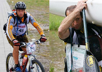 Evano Masini of M-Power Massage Therapy in Kelowna, BC participating in the Race the Rockies Adventure Challenge