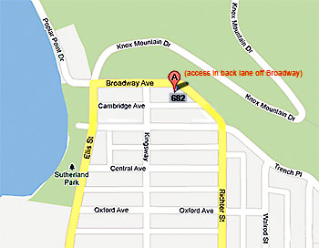 Map for Evano Masini and  M-power massage therapy in Kelowna, BC
