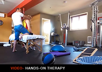Video showing hands-on Massage Therapy by M-Power in Kelowna